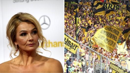 Franziska van Almsick regte sich über einige Fans von Borussia Dortmund auf.