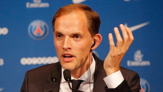 Ex-BVB-Trainer Thomas Tuchel bei seiner Vorstellung in Paris.
