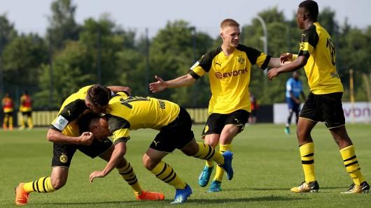 Die U17 von Borussia Dortmund stürmte ins Finale um die deutsche Meisterschaft.