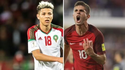 WM 2026 in USA, Kanada, Mexiko oder in Marokko: Amine Harit vom FC Schalke und Christian Pulisic vom BVB haben dahingehend wohl ihre klaren Meinungen.
