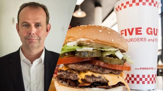 """Jörg Gilcher isrt Deutschlandchef der US-Burgerkette """"Five Guys""""."""