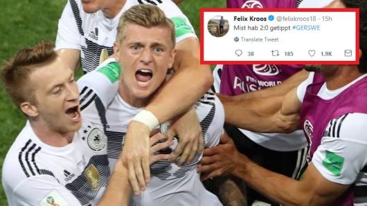 Kaum hatte Toni Kroos den umjubelten Siegtreffer erzielt, da gab es einen Seitenhieb von Bruder Felix.