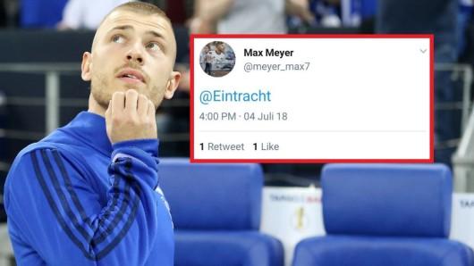 Max Meyer verwirrte seinen Fans mit diesem Tweet.