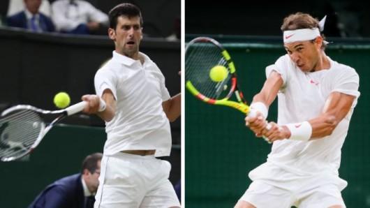 Wimbledon 2018: Im Halbfinale traf Novak Djokovic auf Rafael Nadal.