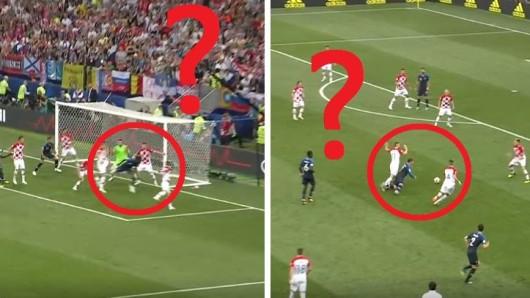 Beim Finale der WM 2018 zwischen Frankreich und Kroatien gab es einige strittige Szenen.