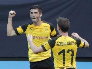 Christian Pulisic (l)erzielte das entscheidende Tor für den BVB.