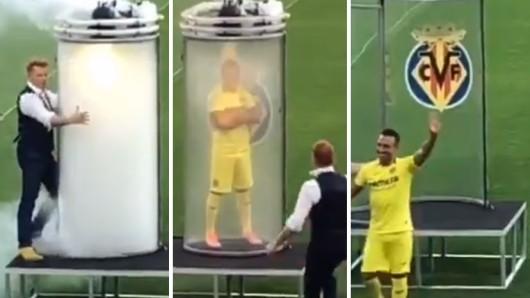 Santi Cazorla wurde beim FC Villarreal auf unglaubliche Art und Weise vorgestellt.
