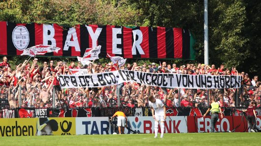 Auch die Leverkusener Fans protestierten bei ihrem Pokalspiel in Pforzheim.