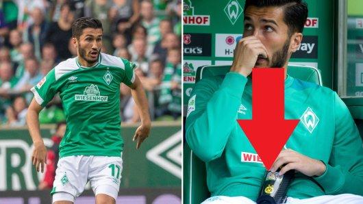 Nuri Sahin spielte in seinem Debüt für Werder Bremen mit Schienbeinschonern des BVB.