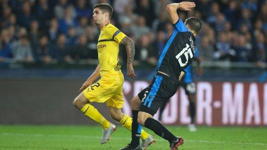 Christian Pulisic schoss Borussia Dortmund beim FC Brügge glücklich zum Sieg.