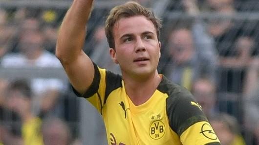 Beim Spiel zwischen Borussia Dortmund und Atletico Madrid steht Mario Götze in der BVB-Startelf.