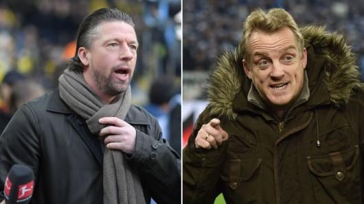 Einst bei Schalke: Steffen Freund und Mike Büskens.