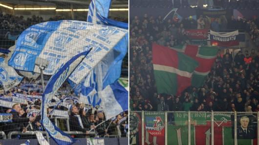 Rund um die Partie zwischen Schalke und Lokomotive Moskau kam es zu wilden Schlägereien.