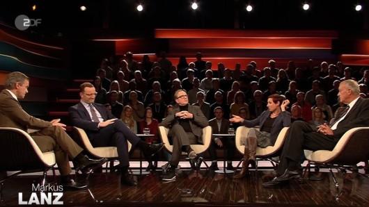 Eine Runde, der richtig Zündstoff innewohnte: Markus Lanz diskutierte am Donnerstag mit Jens Spahn, Olli Dittsche, Juli Zeh und Michael Spreng.