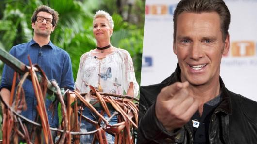 Jürgen Milksi (r.), Ex-Kandidat im RTL-Dschungelcamp.