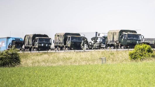 Ein Konvoi der US-Armee auf der A4 in Mai 2018.