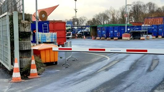 Der Rcyclinghof in Altenessen musste zwischenzeitig dicht gemacht werden. Ein Experte entschärfte den Sprengstoff.