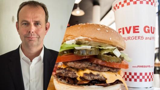 """""""Five Guys""""-Deutschlandchef Jörg Gilcher kündigt drei weitere Restaurants in NRW an."""