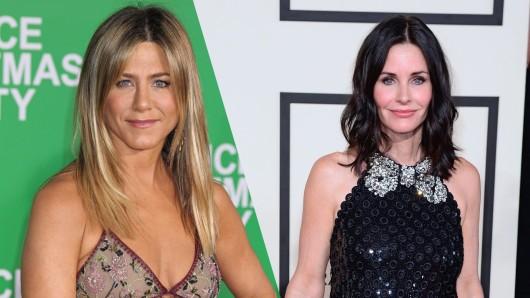 """Jennifer Aniston wollte ihren 50. Geburtstag mit Courteney Cox (54) und weiteren Freundinnen feiern. Beide wurden durch die Erfolgsserie """"Friends"""" berühmt."""