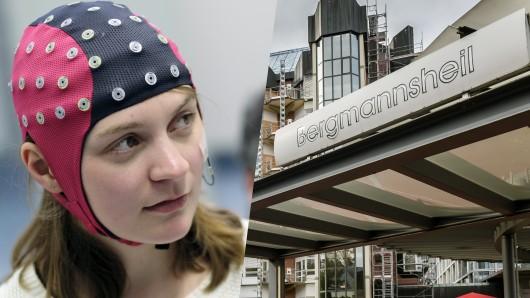 Vanessa Hellwig hat im Bergmannsheil Bochum einen Rollstuhl allein mit der Kraft ihrer Gedanken gesteuert.
