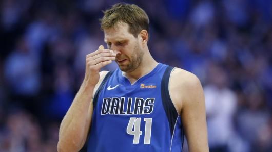 Bei seinem Abschied aus der NBA flossen Tränen bei Dirk Nowitzki.
