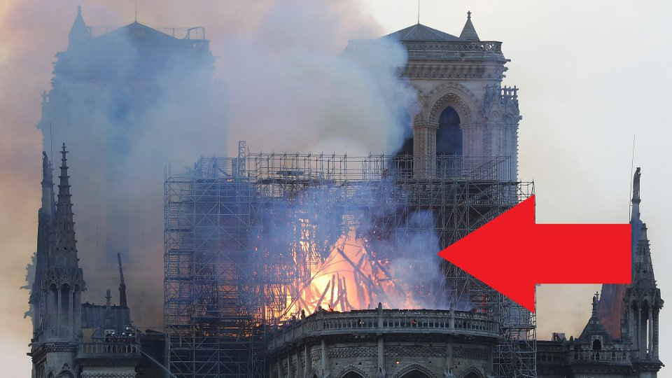Notre Dame Frau Schaut Nachrichten Dann Fallt Ihr Unheimliches