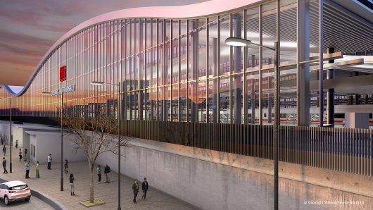 So könnte der Hauptbahnhof aussehen, wenn er fertig ist.