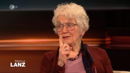 """Die Holocaust-Überlebende Laureen Nussbaum warnte bei """"Markus Lanz"""" vor den aktuellen politischen Entwicklungen."""