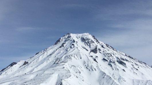 Der Vulkan auf der Pazifik-Halbinsel Kamtschatka.