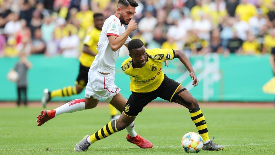 Borussia Dortmund - 1. FC Köln im U17-Finale: Youssoufa Moukoko erzielte den Anschluss. Sein Ausgleich wurde zu Unrecht aberkannt.