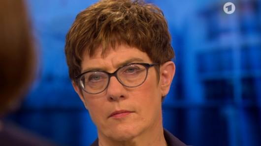 CDU-Parteichefin Annegret Kramp-Karrenbauer zeigte bei Anne Will (ARD) deutliche Kante gegen die AfD.