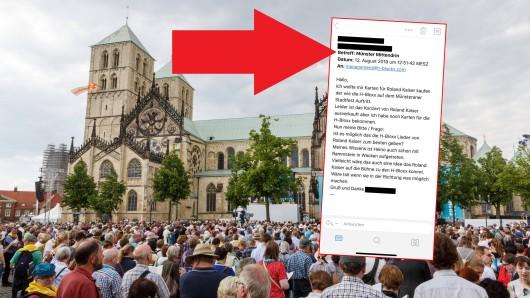 Die Karten für Roland Kaiser beim Stadtfest in Münster sind bereits restlos ausverkauft. Dies bringt einen Schlagerfan auf eine Idee.