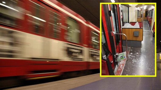 In Duisburg verletzten sich bei der Notbremsung einer U-Bahn mehrere Fahrgäste – einer krachte durch eine Scheibe.