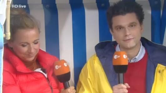 Andrea Kiewel und Lutz van der Horst wurden während der Live-Sendung plötzlich unterbrochen.