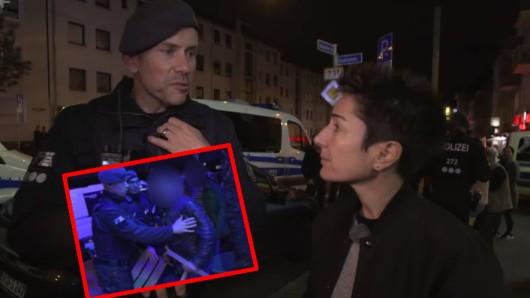 Dunja Hayali begleitete die Polizei bei einer Razzia in Essen.