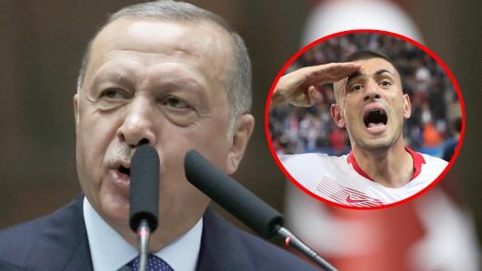 """""""Natürlich und selbstverständlich"""" nennt der türkische Präsident Recep Tayyip Erdogan die Gesten der Nationalspieler."""