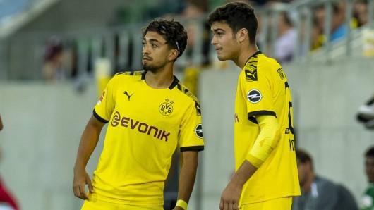Immanuel Pherai und Giovanni Reyna bekomme ihre Chance im Training der BVB-Profis.