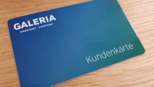 Die neue Galeria Kaufhof Karte.