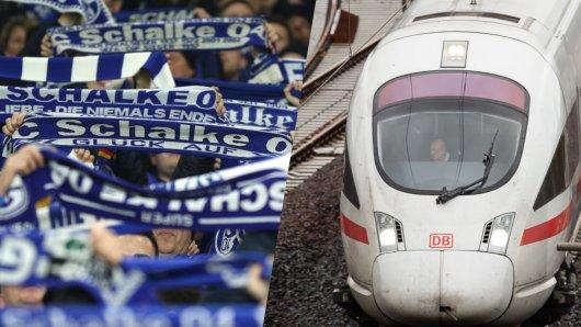Fans vom FC Schalke 04 griffen im ICE durch, ein Sportkommentator beobachtete die Szene. (Symbolbild)