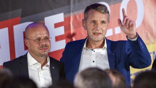 Anführer des rechsextremen AfD-Flügels: Björn Höcke und Andreas Kalbitz.