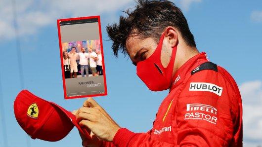 Formel 1: Ärger um Charles Leclerc. Der Ferrari-Fahrer war in die Heimat gereist.