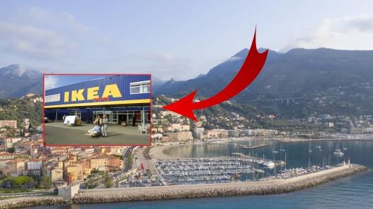 Beim Urlaub in Frankreich kam es bei Ikea zu einem Zwischenfall.