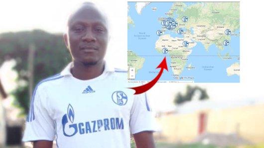 Abdel Manaf Traore hat in Togo einen Schalke-Fanclub gegründet.