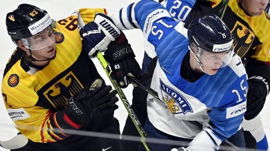 Eishockey WM 2021: Deutschland ist gegen Finnland unter Druck.