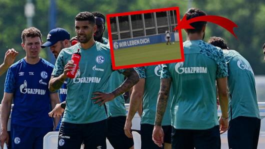 Beim FC Schalke 04 stand plötzlich ein alter Bekannter auf dem Trainingsplatz.