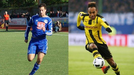 Was für den BVB Pierre-Emerick Aubameyang (r.) ist für den FC Brünninghausen Florian Gondrum (l.).