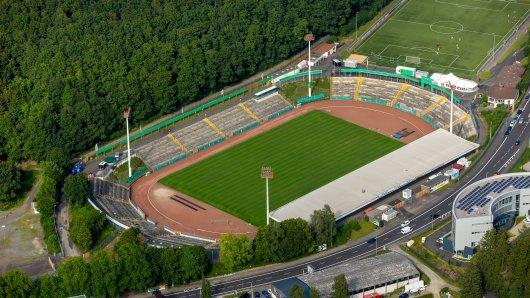 Im Leimbachstadion in Siegen kann nicht gespielt werden.