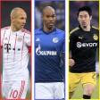 Arjen Robben, Naldo und Shinji Kagawa zählen zu den Stars der Bundesliga-Legionäre.