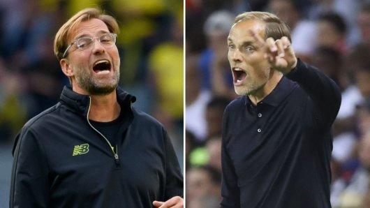 Einst bei Borussia Dortmund, nun im direkten Duell in der Champions League: Jürgen Klopp trifft auf Thomas Tuchel.