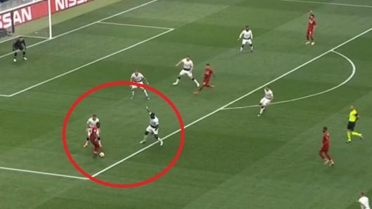 Beim Champions League Finale zwischen Liverpool und Tottenham gab es gleich nach wenigen Sekunden eine umstrittene Szene.